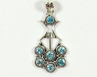 Sterling Silver and Blue (London) Topaz Earrings  TP-01