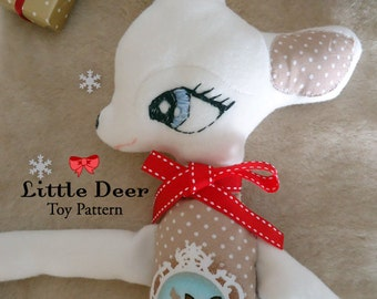 Little Deer Toy Pattern  I N S T A N T   D O W N L O A D
