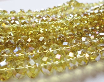 Tiaria Crystal Sunglow Faceted  Rondelle Beads 8x5mm