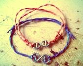 Infinity Bracelet, Friendship Bracelet, Valentines Day, Infinity Jewerly, Nautical Bracelet, Love Bracelet, Tiny  Carm Bracelet