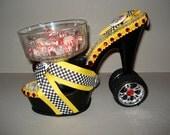 high heel candy dish Platform Taxi
