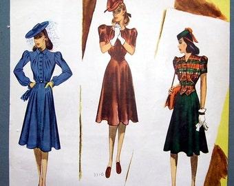 1939 Artist illustrated Blanche Rothschild, Magazine Print Page, Dress Pattern, Ladies Fashion Suit, College Girls Fashions, Artist Drawn