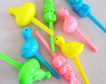 Retro Easter Cupcake Picks