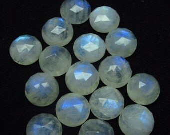 11mm - 16pcs - A high Quality Rainbow Moonstone Super Sparkle Rose Cut Faceted Round -Each Pcs Full Flashy Gorgeous Fire
