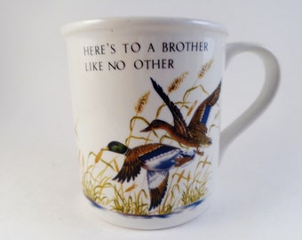 Brother Mug Coffee Appreciation Birthday Mallards Ducks Wildlife Cup