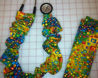 Geometrics in Bold Colors stethoscope cover