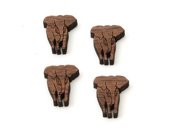 "Elephant Charms - 3/4"" Size - Laser Cut Wood  Etsy Itsies by Timber Green Woods"