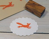 Running Fox Olive Wood Stamp