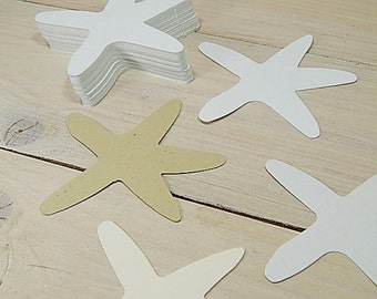 Starfish Cardstock Tags/Die-cuts in a Choice of 4 Cardstocks