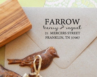 In Stark Contrast Return Address Olive Wood Stamp