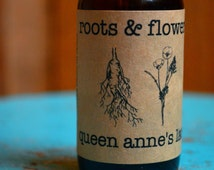 Queen Anne's Lace Tincture Wild Carrot Flower and Seed Pods Organic Alcohol Extract