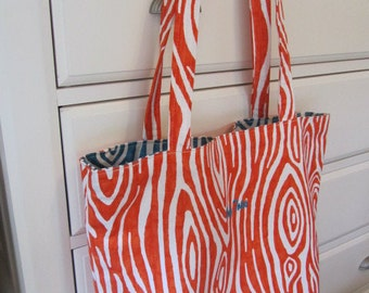 Willow - Tangelo - Reversible Tote (Daily Carryall) - Only Totes by JD Designs
