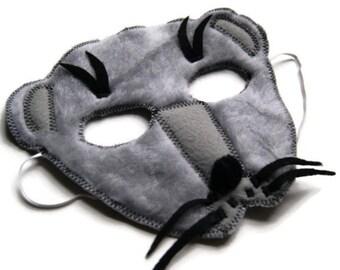 Weasel Mask, Ferret Mask, Woodland Animal Mask, Animal Fur Mask, Animal Birthday Party Favor, Children's Halloween Costume, Adult Mas