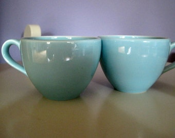 Vintage Turquoise cups made in Italy