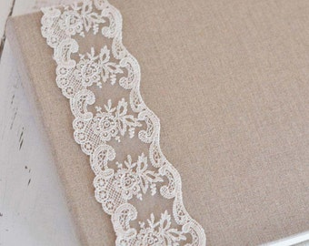 Vintage Wedding Guestbook - French Lace Custom Book- by Claire Magnolia
