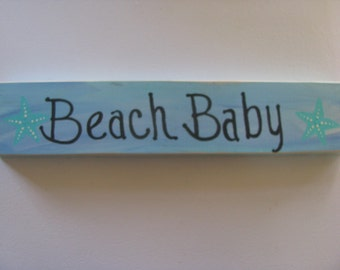 Beach Baby Handpainted Sign