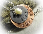 Proverbs 26:2 Hand Stamped  Necklace Aluminum Copper