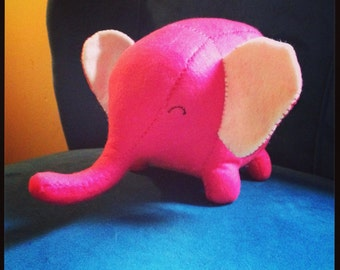 Elephant handmade felt plushie stuffed animal