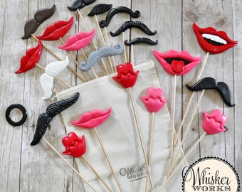 Wedding Photo Booth Props - The Superlative Mix - Set of 20