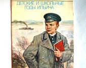 Rare Vintage Book - Young Lenin Biography - Childhood and School Years - 1989 - from Russia / Soviet Union / USSR