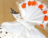 10 Clear Ties - Halloween Ghost (1.4 x 2.2in)