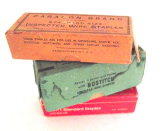 Collection of 3 Vintage Boxes of Staples