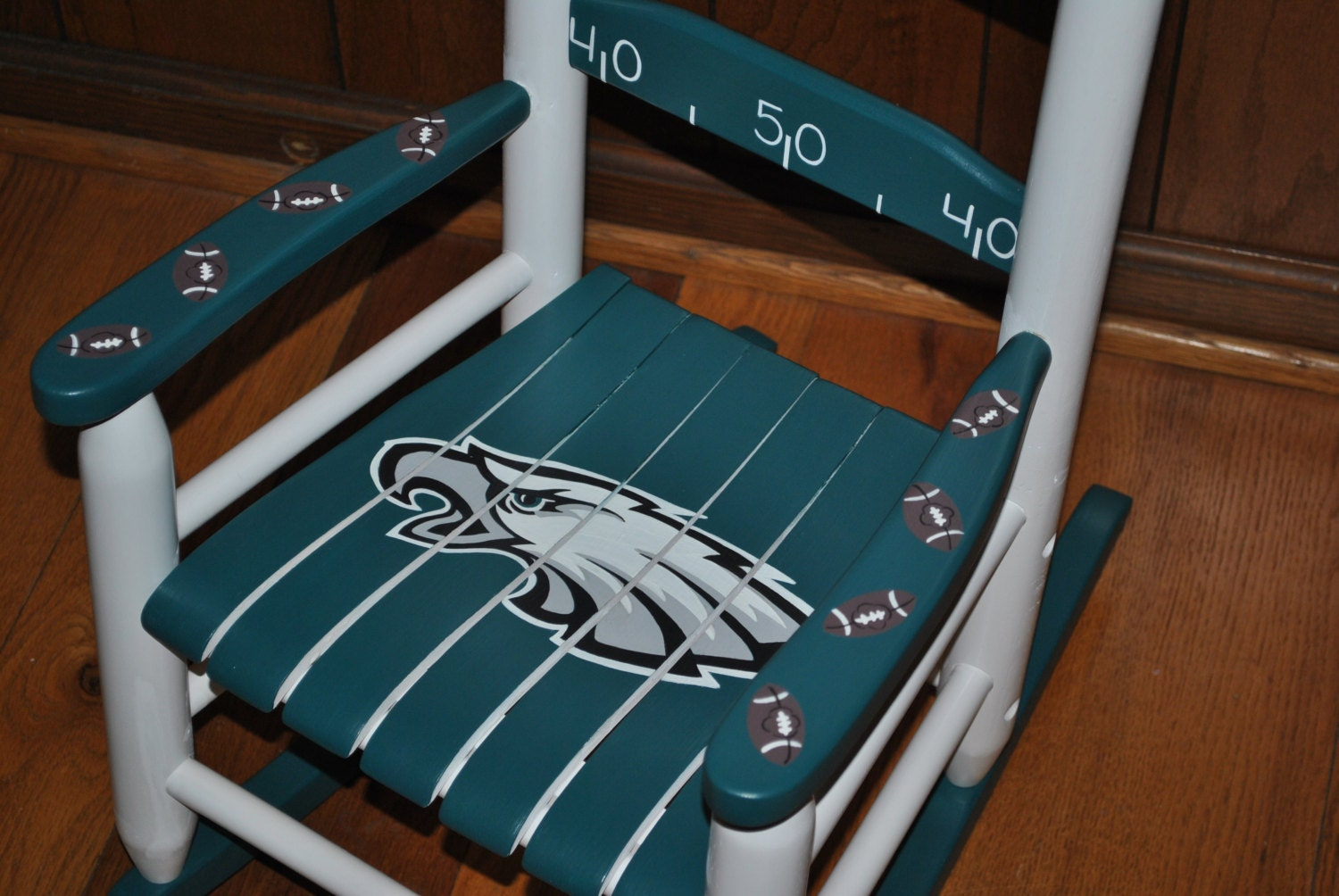 Kids Personalized Rocking Chair Eagles Design By Onmyown14