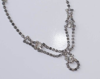 Rhinestone Necklace Vintage Diamond Rhinestone Wedding Necklace