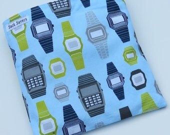 Reusable Eco Friendly Sandwich or Snack Bag Retro Watches