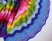 Crochet in Technicolor Waves Blanket Pattern - Fourth in a Series of Four - Easy Crochet Pattern Perfect for the Beginner