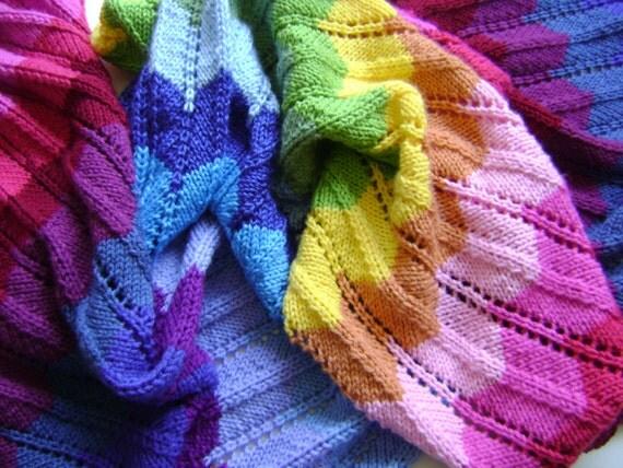 Make Your Own Knitting Pattern : Knitting In Technicolor Make Your Own Chevron Blanket Easy