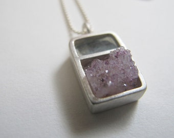 sterling silver rectangle division necklace