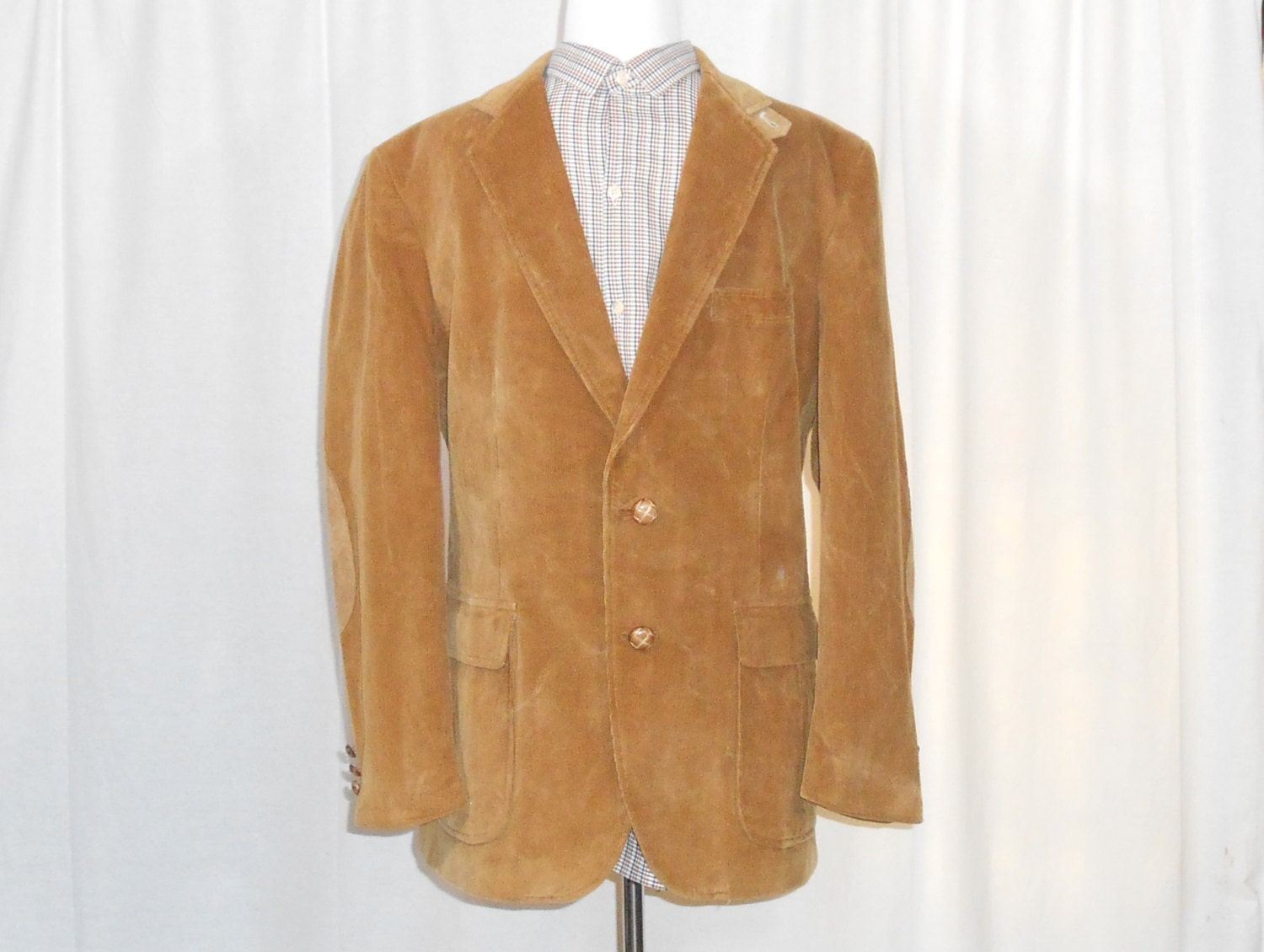 Mens brown blazer with elbow patches