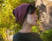 Wool Headband - Winter hat - Wool hat - Ear warmer Plum / Army Green