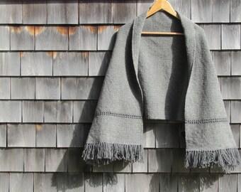Rustic Country Cabin Woodland Woven Wool Shrug Fashion Cape Mantelet Shoulder Wrap Jacket, Natural Mori Kei Girl Capelet Blanket Cloak Coat