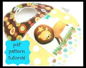 Quilted Patchwork Bib PDF pattern and Tutorial- solid bib or patchwork pattern