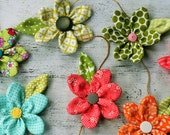 RESERVED FOR MICHELLE:  pocketful of posies garland, fabric flower garland, flower garland, photo prop garland, photo prop