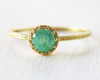 aqua blue ring, gold ring, band ring, gold filled ring, druzy ring, thin ring, green gold ring, teal ring, stone ring,tiny ring, simple ring