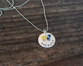 CLEARANCE SALE Milwaukee Brewers Hand Stamped Necklace