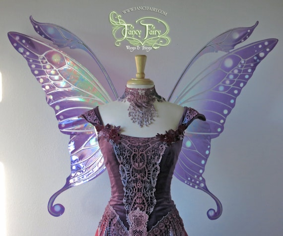 Large Swallowtail Iridescent fairy wings in your choice of colors