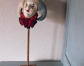 Vintage 1980's Court Jester head on a stick.