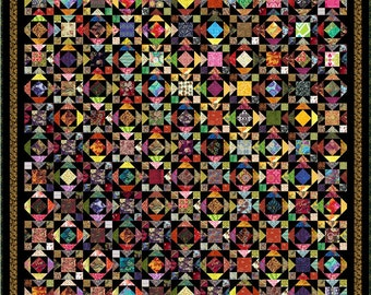 """WATUSI - 101"""" x 101"""" King or 85"""" x 85"""" Queen - Quilt-Addicts Pre-cut Quilt Kit or Finished Quilt"""