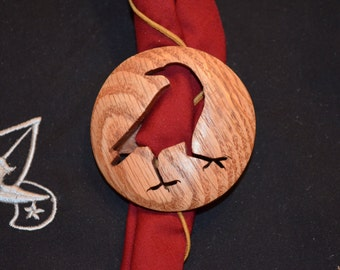 Solid Wood Boy Scout Raven Patrol Neckerchief Slide