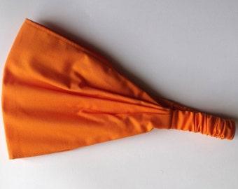 Yoga Headband - Solid Orange Kona Cotton fabric by Robert Kaufman.