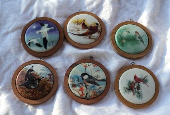 6 Birds Wildlife Series Hallmark Christmas Ornaments 1980s