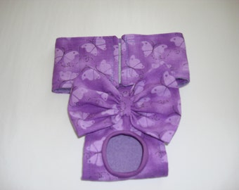 Purple with Butterflies - DOG PANTY - Female Dog Diaper