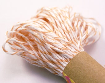 PEACH Bakers Twine String for crafting, gift wrapping, packaging, invitations - 15 yards