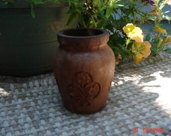 Vintage Hand Carved Decorative Vase - Made in India