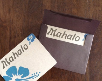 Hibiscus mahalo cards- set of 10