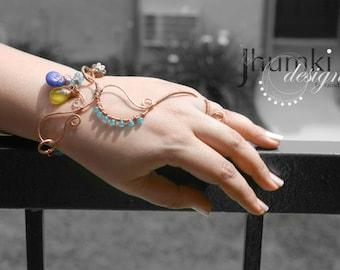 BESPOKE Meghaduta /// slave bracelet by Jhumki luxe-designs by raindrops